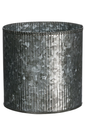 "Metal Ribbed Pot - 5"" high"