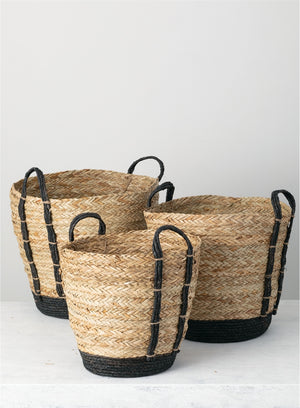 Natural Basket with Black - Small