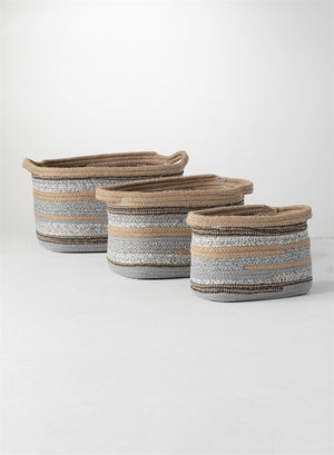 Baskets - Blue and Natural colors