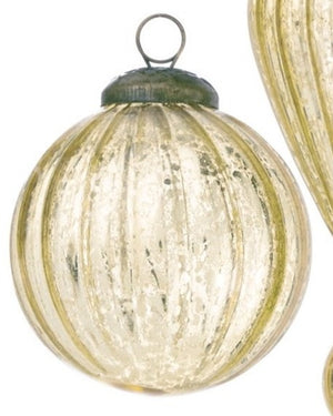 Gold Glass Ball Ornament