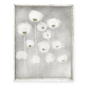 Puffy White Flowers Artwork