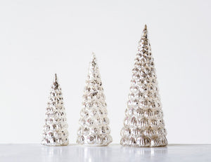 Mercury Glass Trees, set of 3