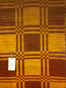 "Yellow and Burnt Orange 19"" x 41"" Decorative Rug"