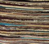 "Beige, brown & turquoise, 34"" x 56"""