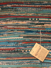 "Load image into Gallery viewer, Aqua blue 24"" x 40"" rag rug"