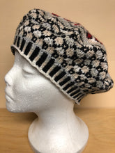 Load image into Gallery viewer, Gray and red wool tam hat