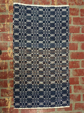 "Load image into Gallery viewer, Blue and white wool rug 29"" x 51"""
