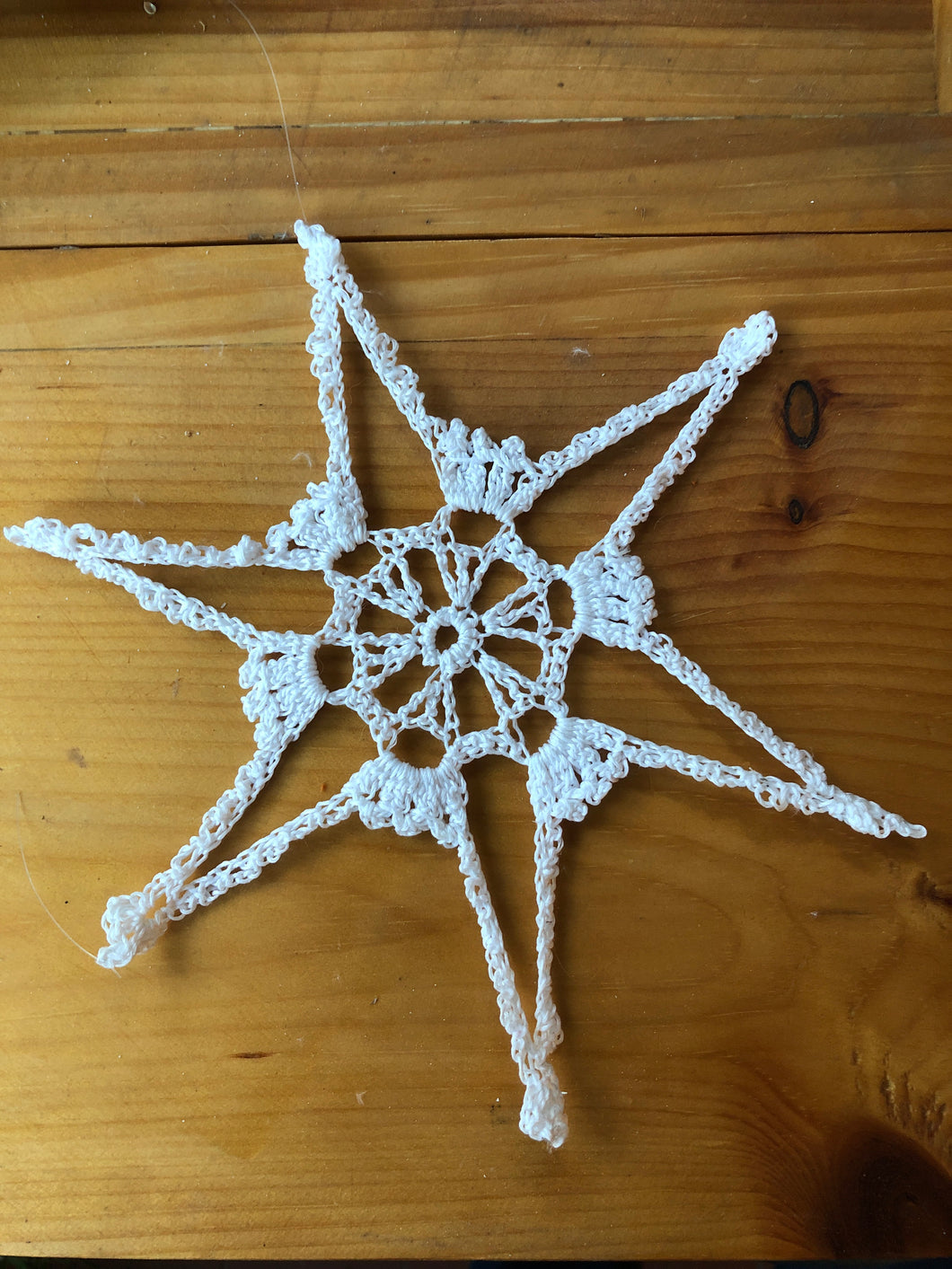Crocheted Snowflakes in various forms