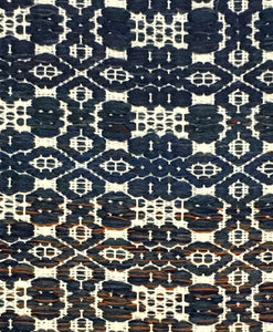 "Blue and white wool rug 29"" x 51"""