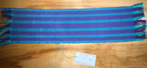 "Purple, blue, and light blue table runner 6"" x 21"""