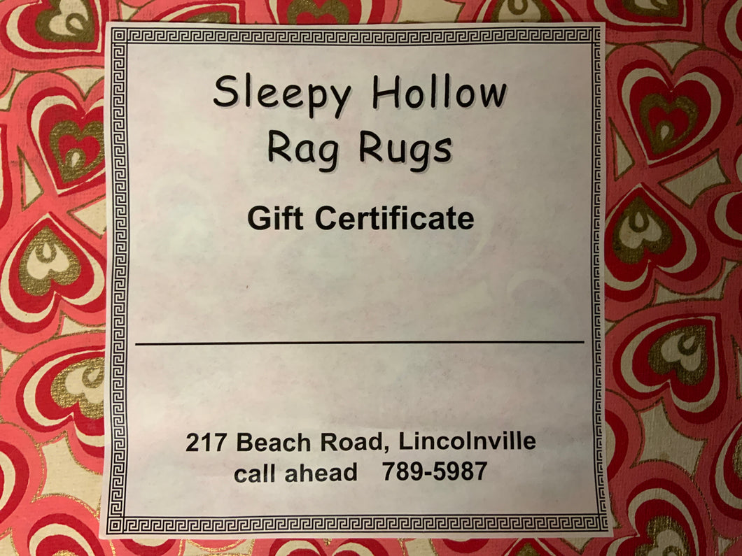 Sleepy Hollow Rag Rugs Gift Card