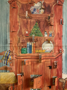 Brown Corner Cupboard Advent Calendar