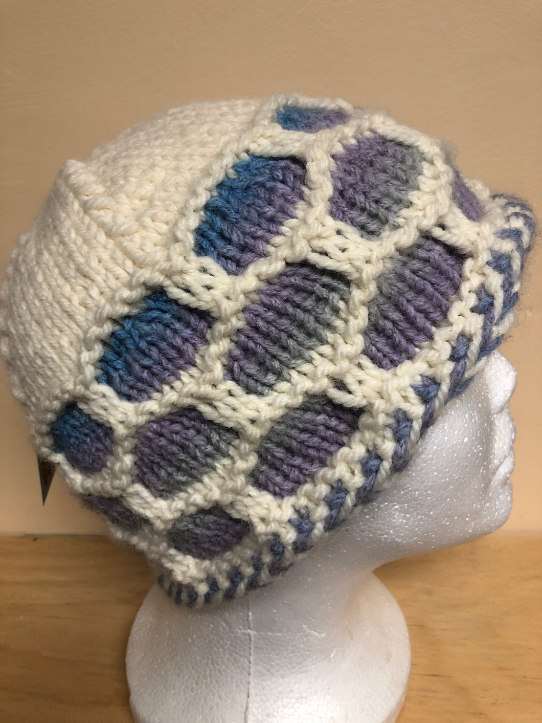 Cream colored wool hat