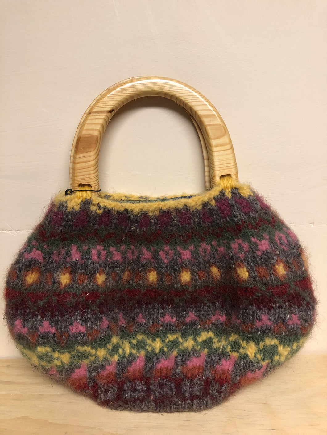 Hand bag, lined and zips closed