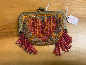Red and orange coin purse