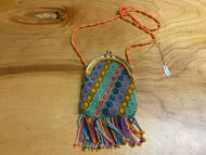 Multicolor beaded coin purse