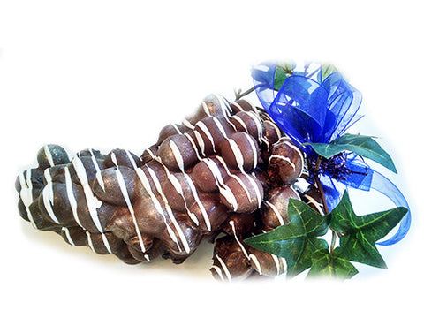 One Large Grape Dark Chocolate Cluster