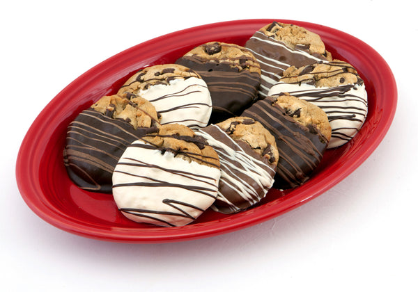 Eight Dipped Chocolate Chip Cookies