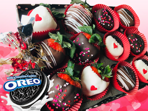 Half Dozen Love Berries and One Dozen Love Chocolate Covered Oreos®