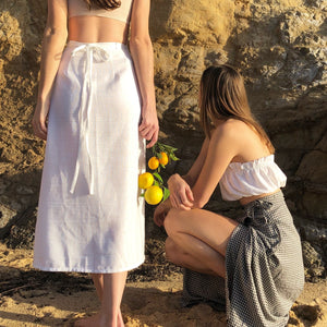 Lucia Wrap Skirt in Ivory