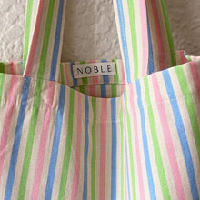 Load image into Gallery viewer, Noble Tote in Candy Stripe