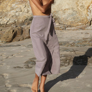 Lucia Wrap Skirt in Fawn