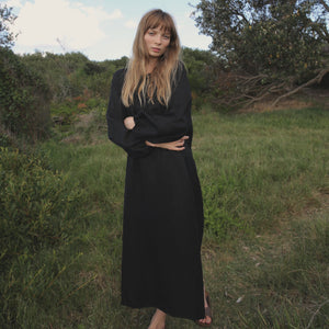 Lena Maxi Dress in Black