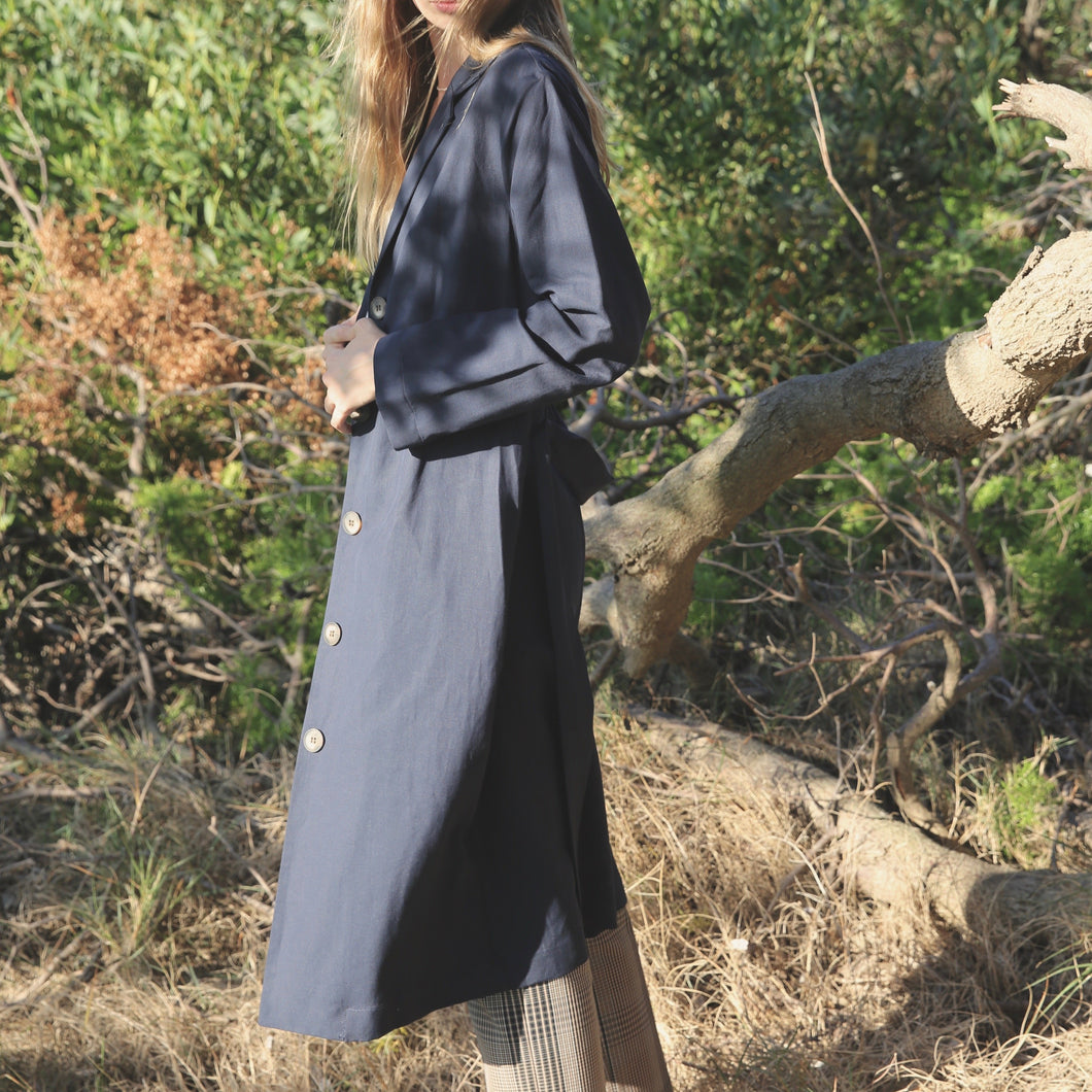 Selia Duster in Navy