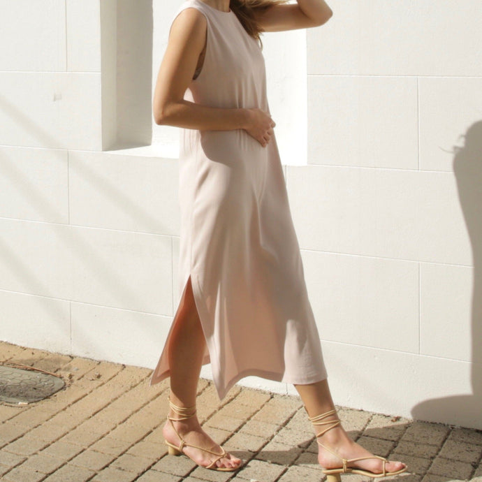 Clementine Dress in Dusty Pink