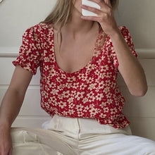 Load image into Gallery viewer, Larisa Top in Daisy Red