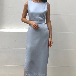 Clementine Dress in Sky Blue