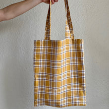 Load image into Gallery viewer, Noble Tote in Mustard Check