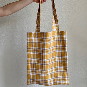 Noble Tote in Mustard Check