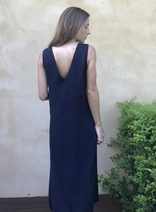 Clementine Dress in Navy
