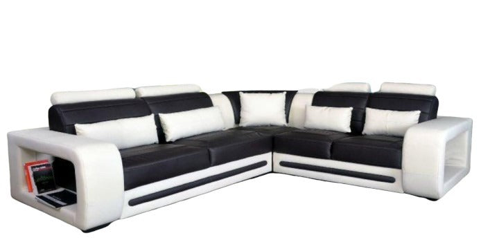 Royal Pure Leather Corner Sofa Set