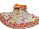Stylish Pure Crepe Shibori Lehanga with Pure Georgette Chunri - FASHION VERIZON ™