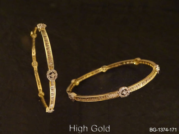 Thin Delicate Style CZ Bangles