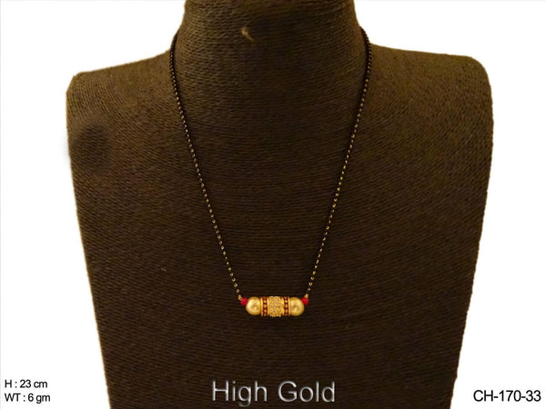 Delicate Mangalsutra AD Chain Set
