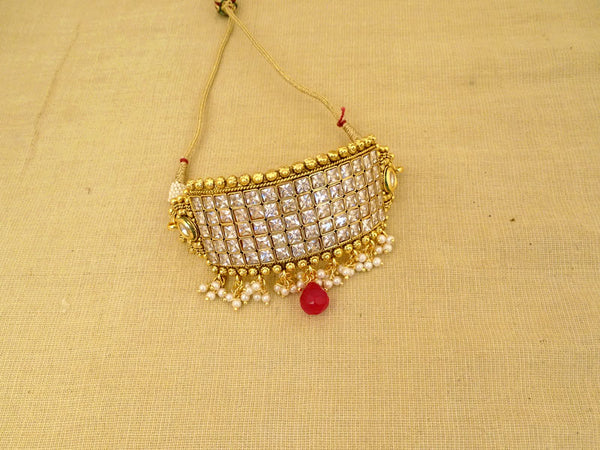 broad multi square style bridal antique bajuband