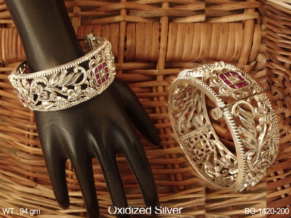 Rani white princess stone antique bangle