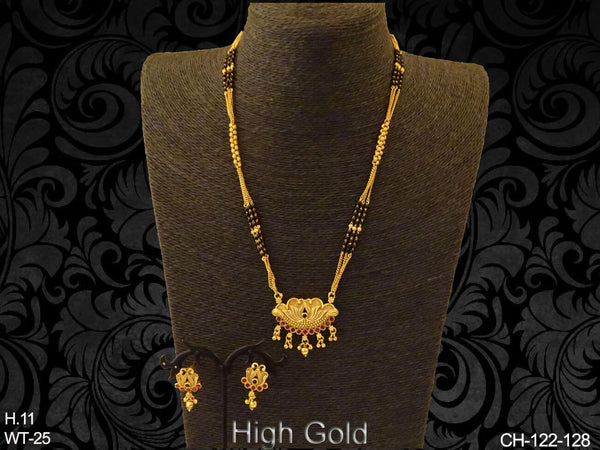 Shell Style Mangalsutra Chain Pendant