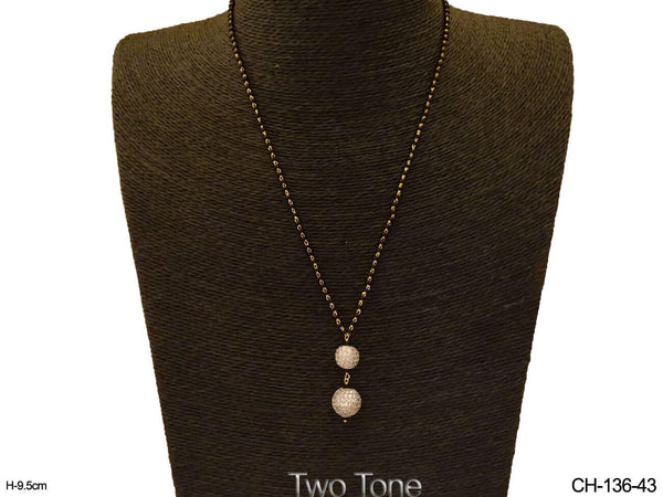 Double Round shape Mangalsutra Chain