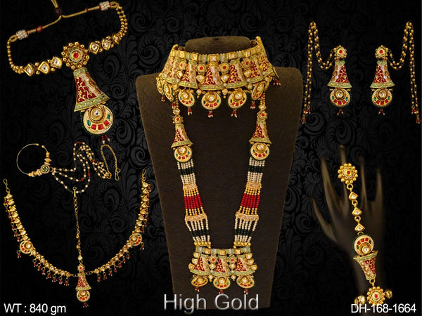 Bell Shape Style Chokor Long Dulhan Set