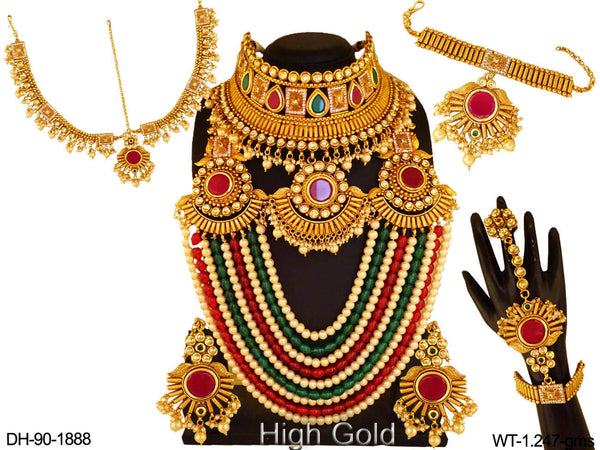 Chokor Shape Triple Shape Dulhan Sets