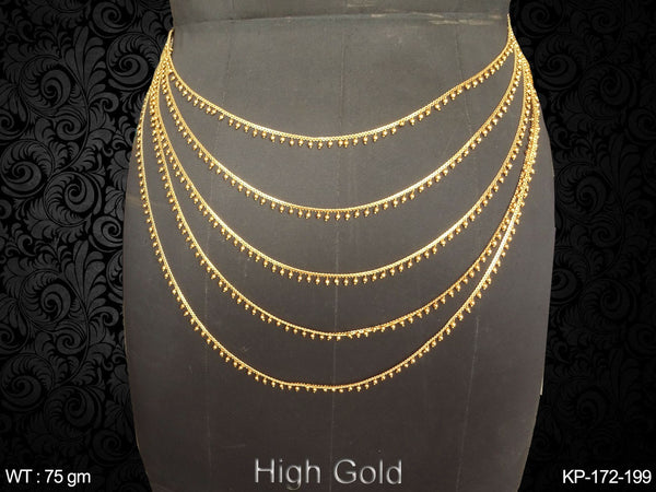 Multiple layer high gold antique kamar patta