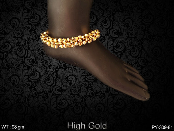 Ghungroo full high gold antique payal