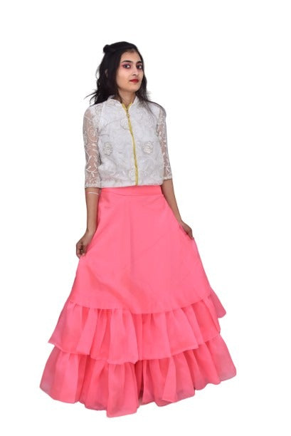 Designed Triple Layered Skirt with Top - FASHION VERIZON ™