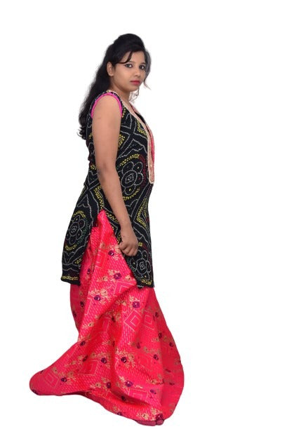 Designed Heavy Kurti and Skirt