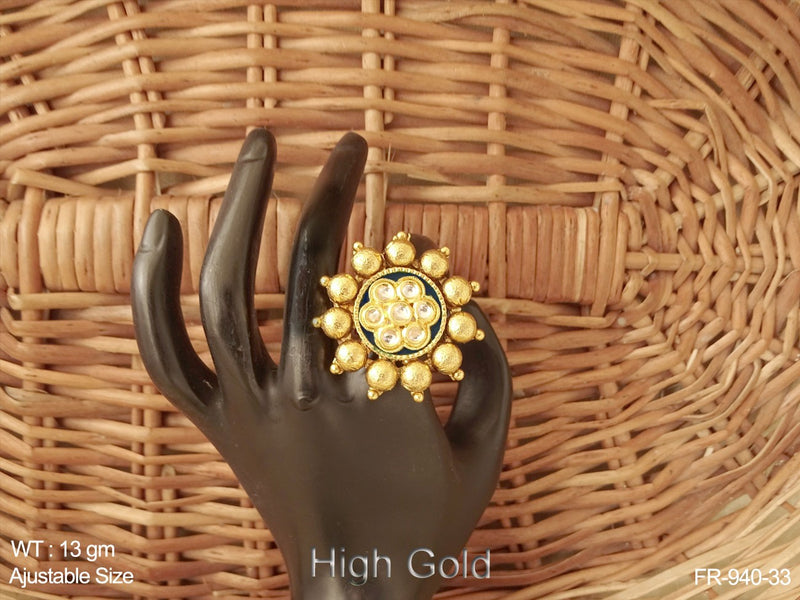 High gold flower delicate antique earring