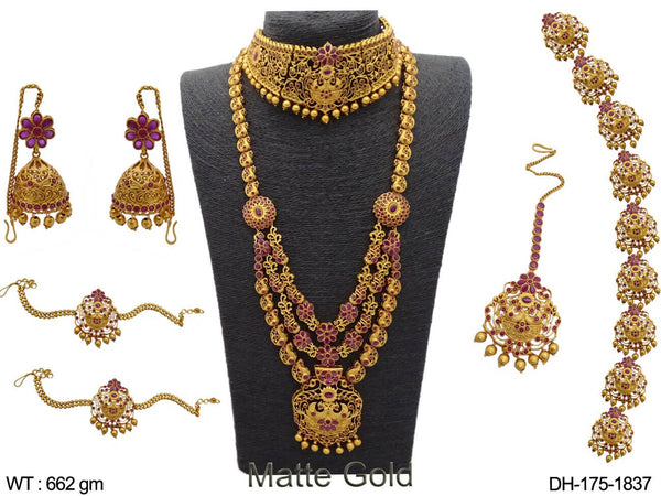 Flowered Designer Kemp Dulhan Set